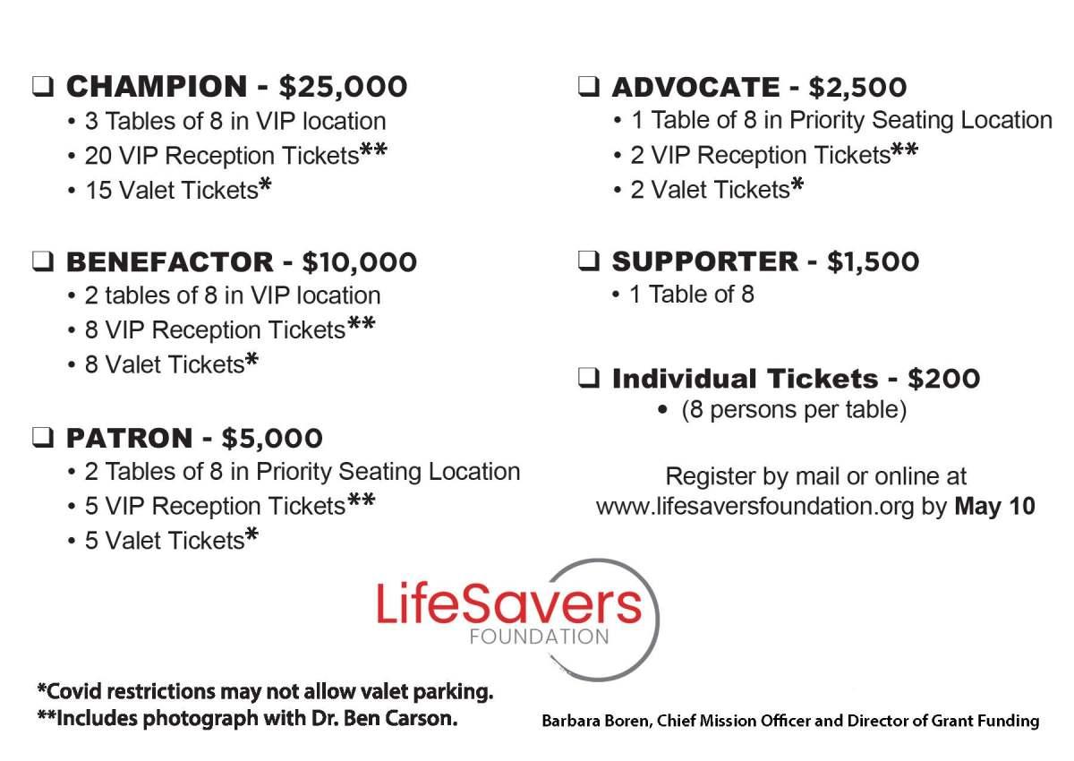 Life Savers Donation Options