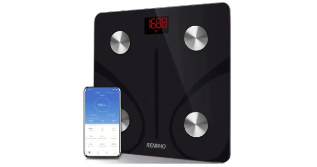 Renpho smart scale and a companion app on your phone.