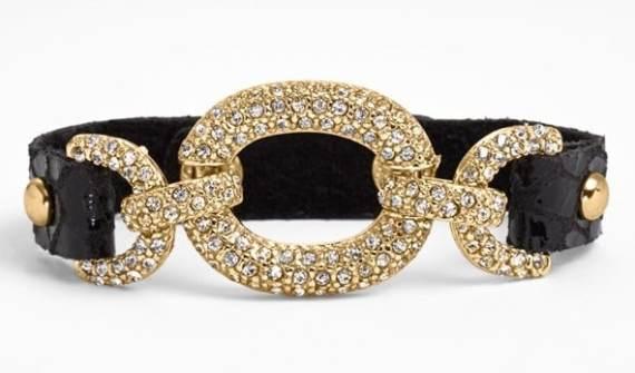 Link & Leather Bracelet $38