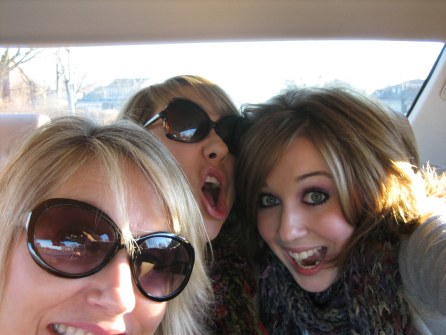 Being silly with Mom and Jaclyn