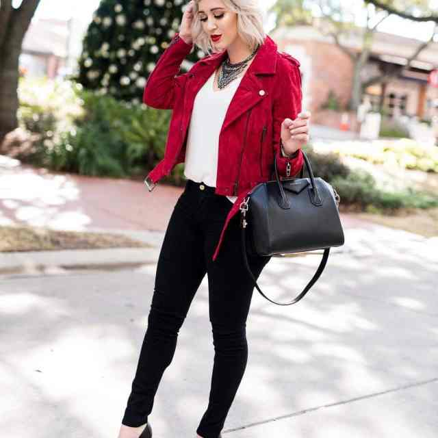 Feeling the holiday spirit with this red jacket  Myhellip