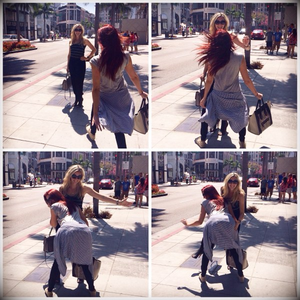 rachel barkules & jaclyn hill having fun on rodeo dr