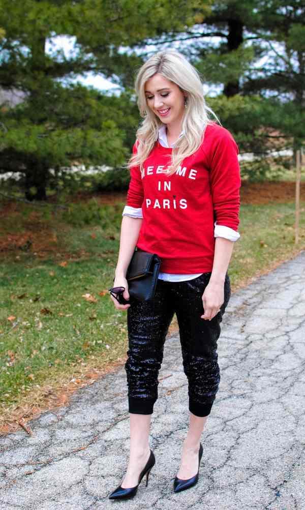 Black Sequin Pants
