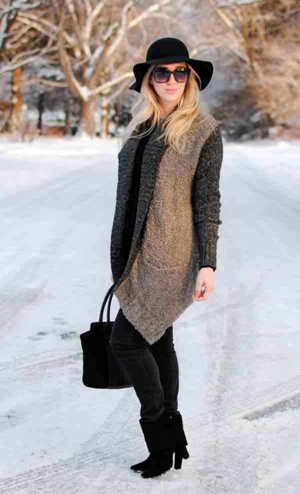 hinge grey poodle sweater