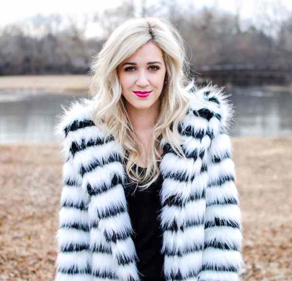 rachel barkules faux fur coat