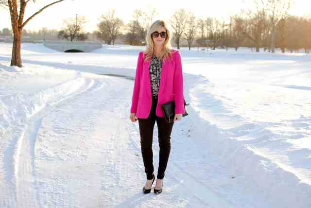 mural pink blazer