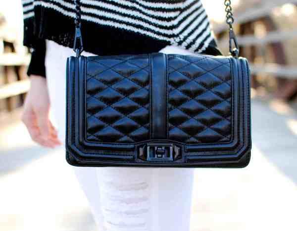 rebecca mink love crossbody bag black