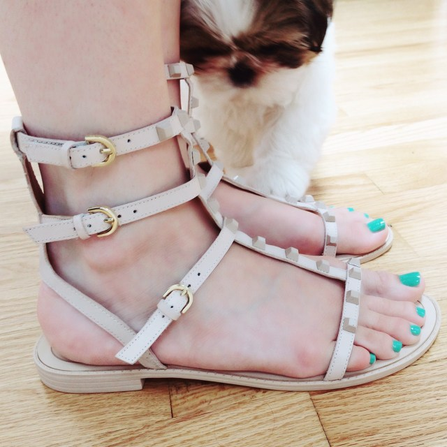 rebecca minkoff Georgina studded leather sandal
