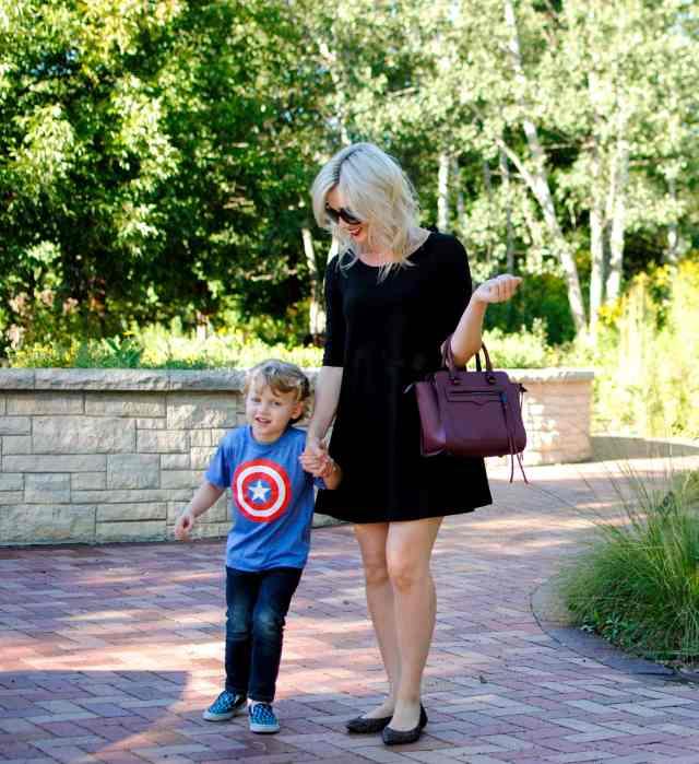 walking with Caleb