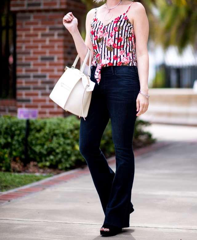 flare jeans & crop top