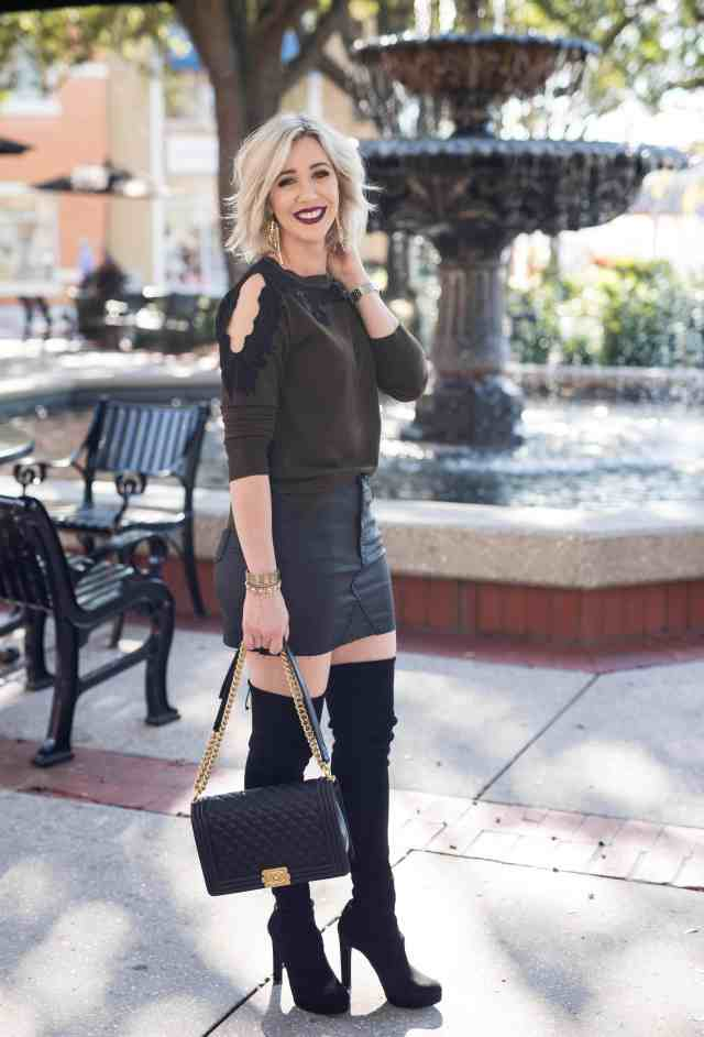 topshop lace cold shoulder sweater