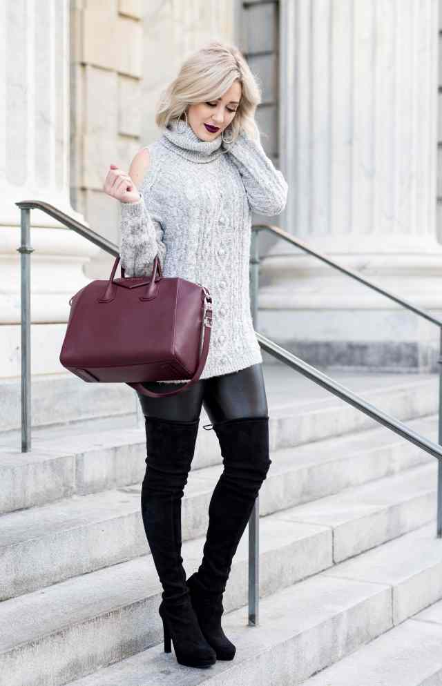Chelsea28 Sequin Cold Shoulder Sweater