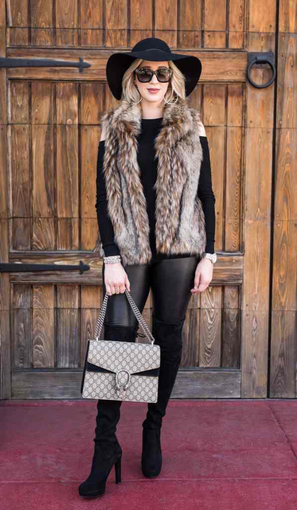 joie faux fur vest