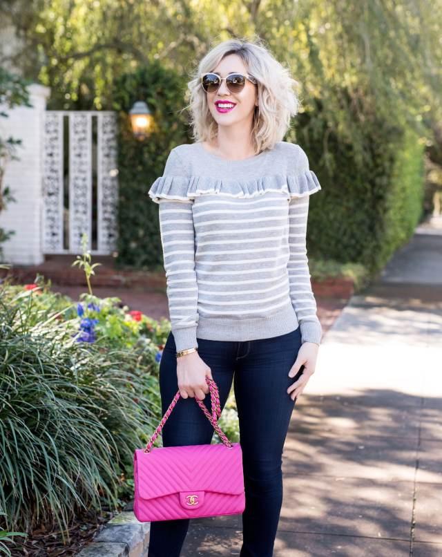 Chanel pink bag
