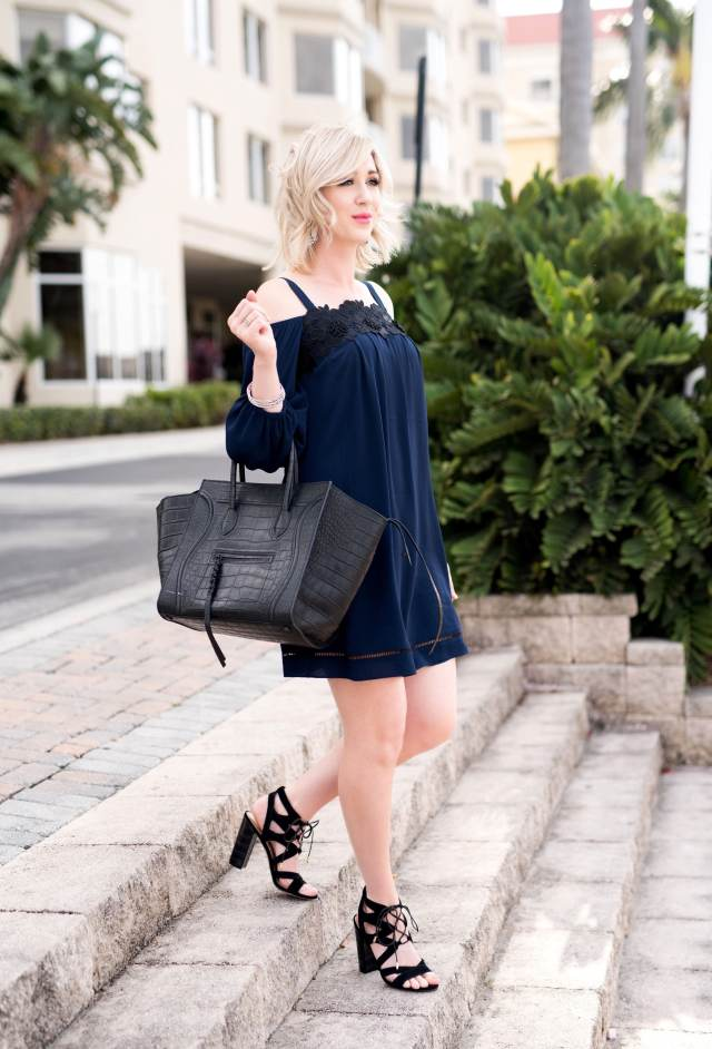 Chelsea28 cold shoulder dress