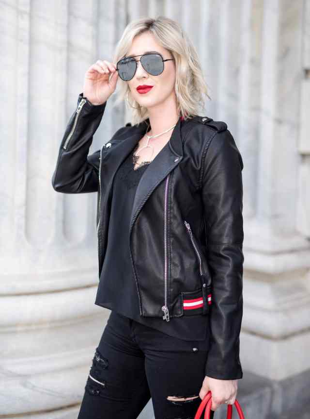 BlankNYC Frisky Business Moto Jacket