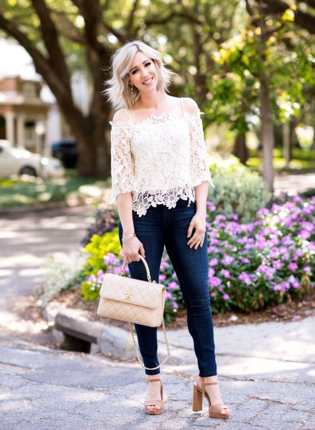 Astr Amalie Lace Top