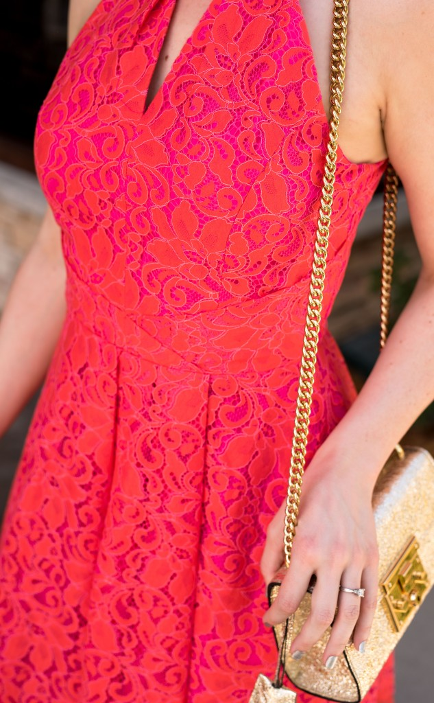 Adelyn Rae Renée Lace Fit & Flare Dress