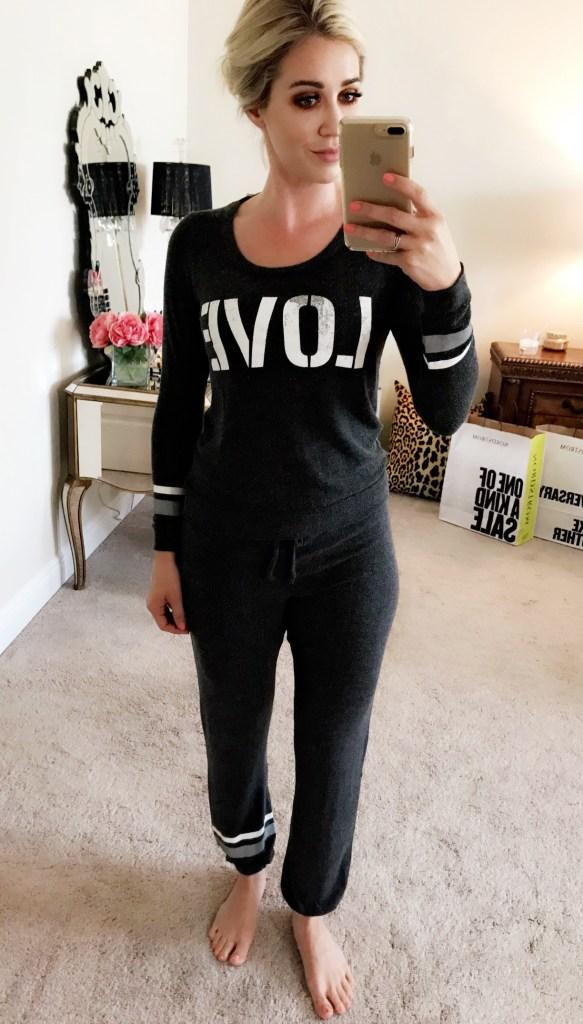 chaser love sweatshirt & lounge joggers