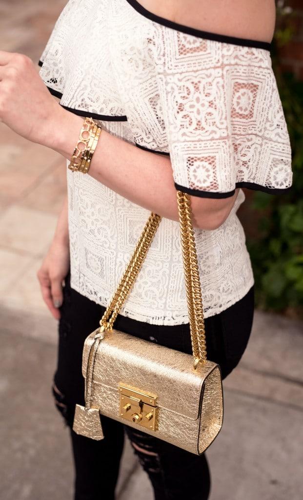 gucci Padlock metallic shoulder bag