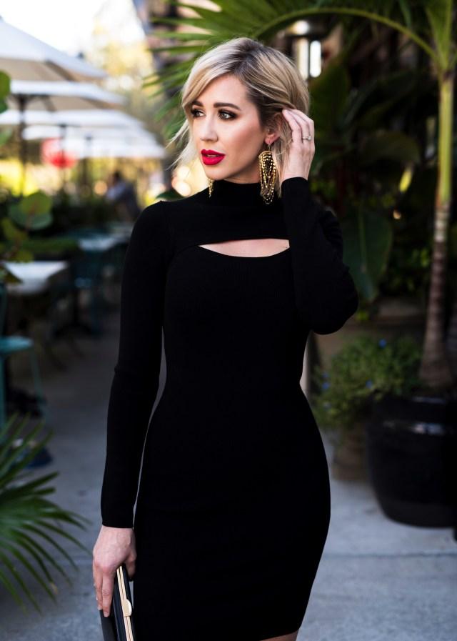 Leith Keyhole Sweater Dress