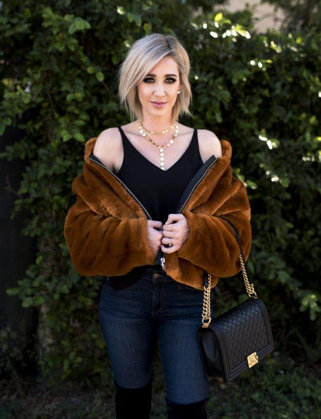 free people faux fur bomber jacket