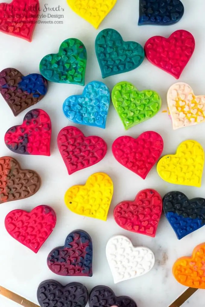 DIY Heart Shaped Crayons Silicone Baking Mold Broken