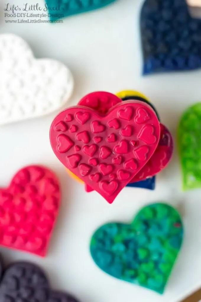 DIY Heart Shaped Crayons Silicone Baking Mold Broken
