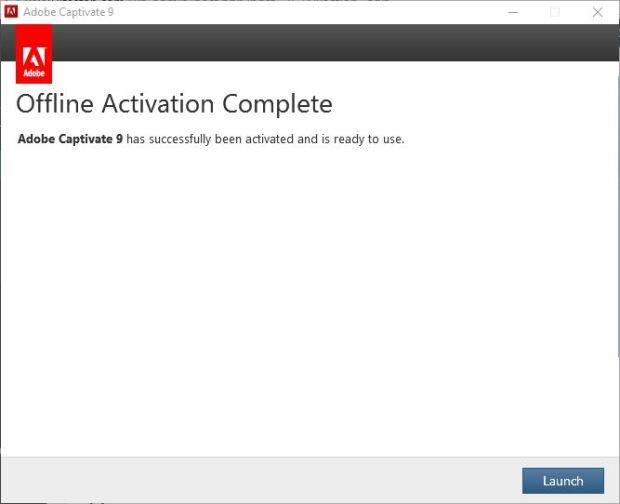 Offline activation complete