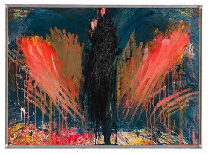 Arnulf Rainer_Untitled, 1980, olio su cartoncino montato su legno, cm 75x105