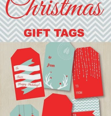 Tag it with Love – 12 Fav Free Printable Christmas Tags!