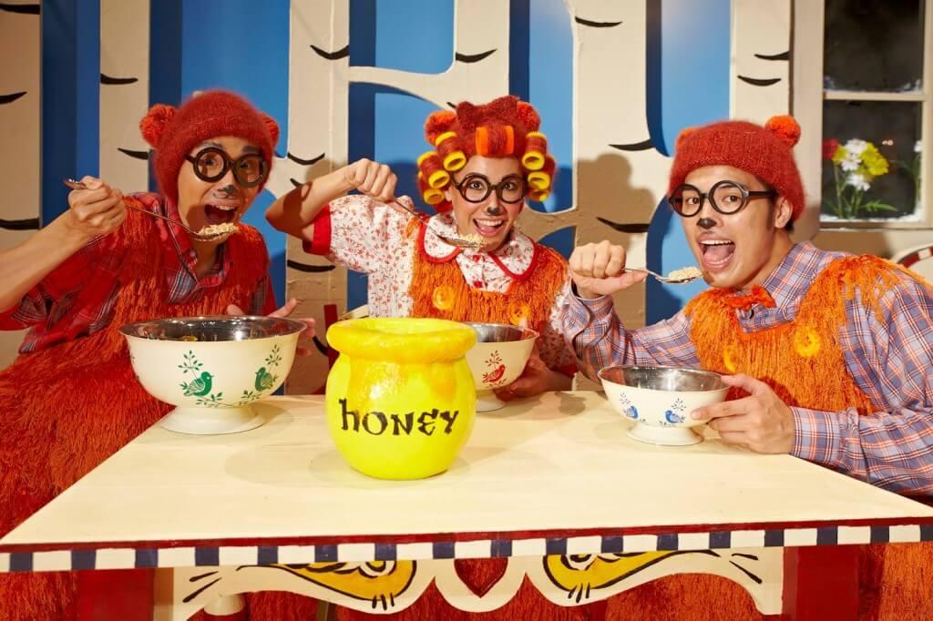 Mina Kaye, Dwayne Tan and Aaron Khaled in SRT's The Little Company's Goldilocks and the Three Bears_3 (2013)