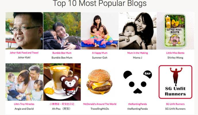 On Our Top 10 Most Popular Singapore Blogs Award 2015 Win