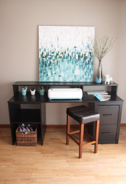 How to Make a DIY Desk Using a Filing Cabinet