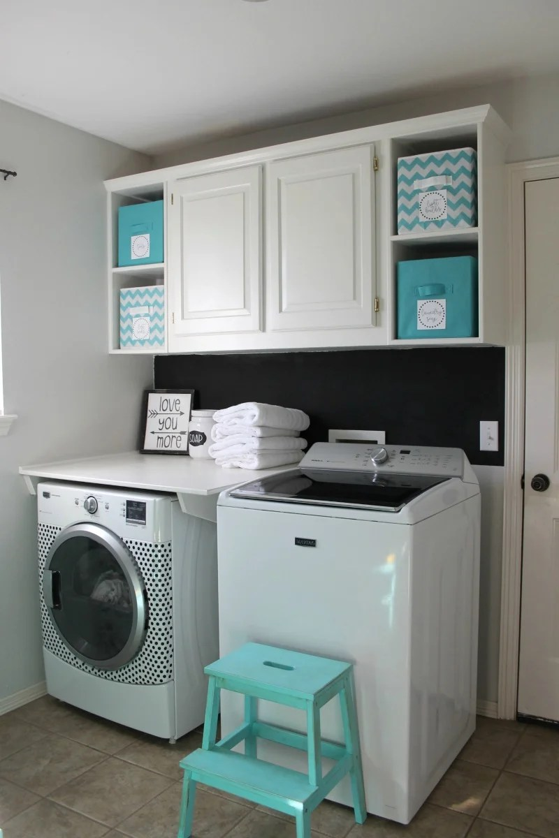 Laundry Room Makeover for Under $100 on Small Laundry Room Organization Ideas  id=80129