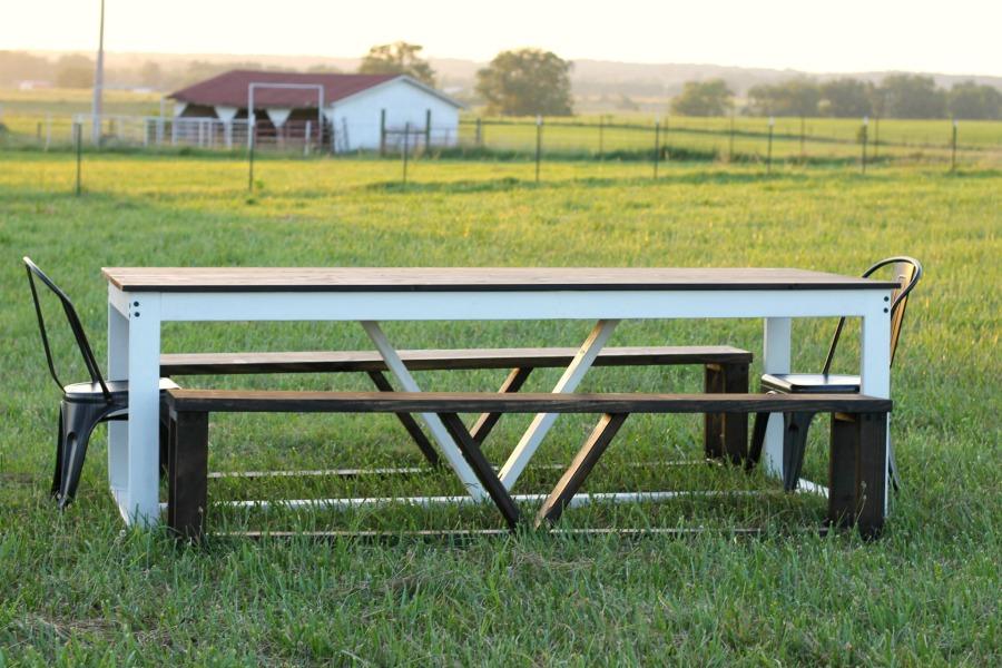 life storage diy farmhouse table build modern timeless