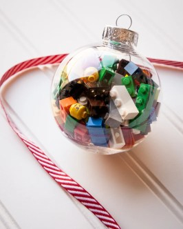 Lego filled ornament - DIY stocking stuffers