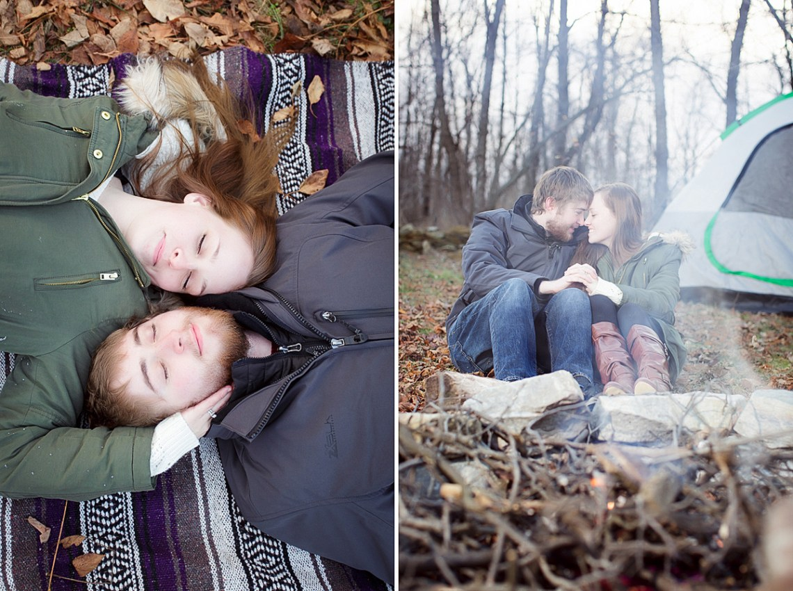 camping engagement photos reading pa