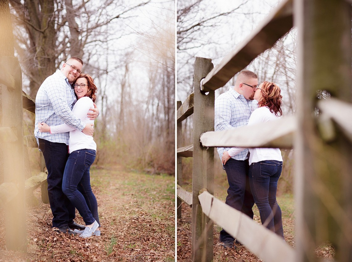 Engagement Photos split rail fence Berks County PA