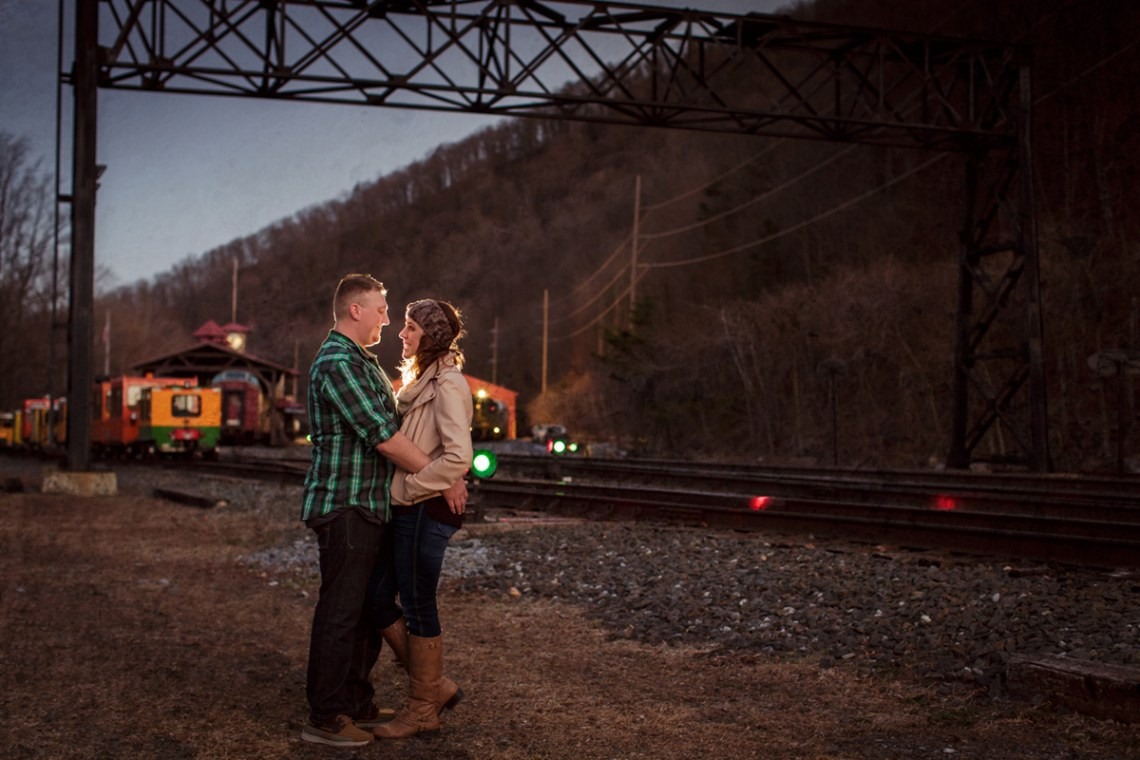 port clinton train station engagement photos