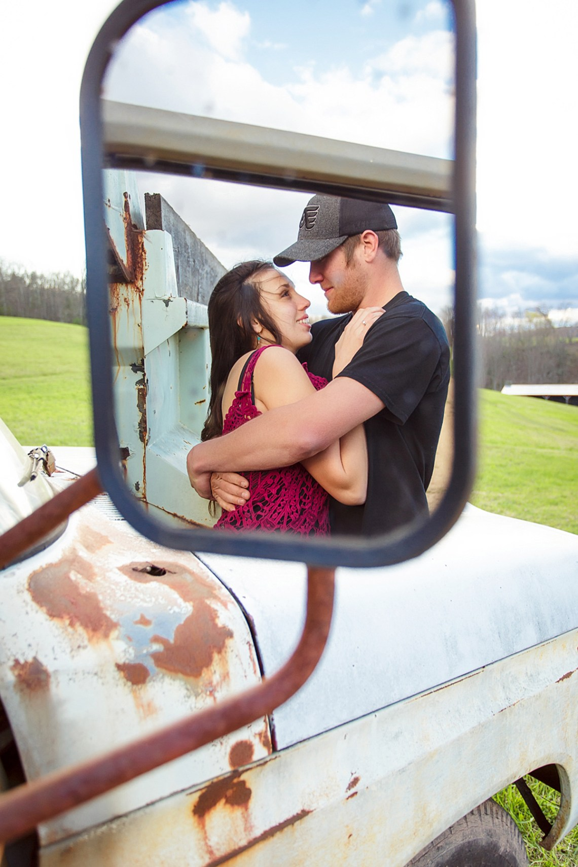 schulykill county pa engagement photos on farm