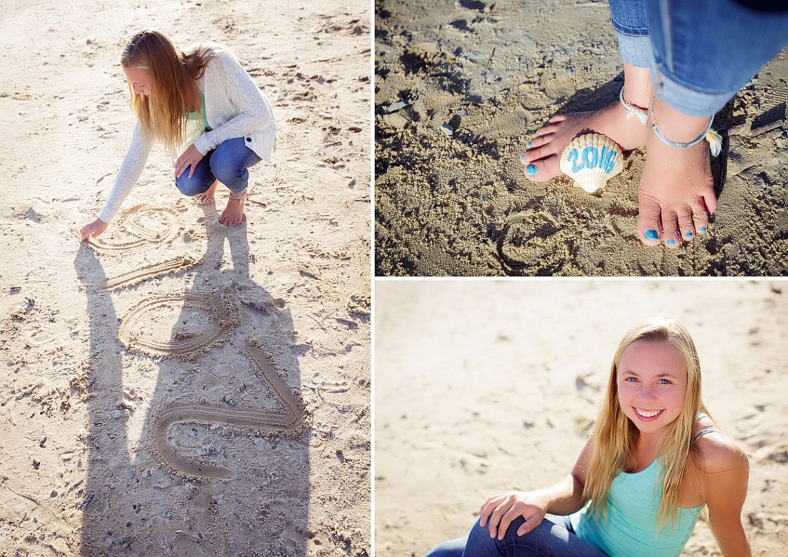 senior photos on the beach