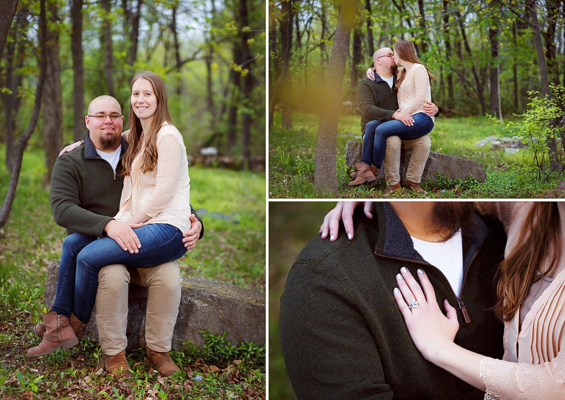 Engagement Photos in woods