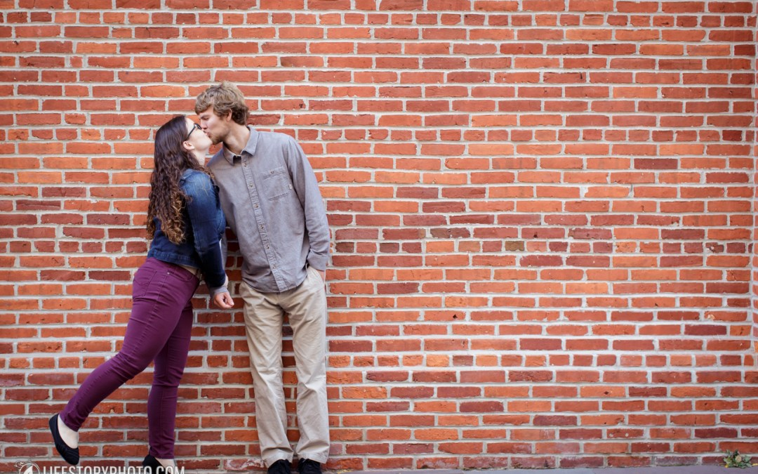 Outdoor Engagement Session in Lancaster City and Millersville University | Brittany & Greg