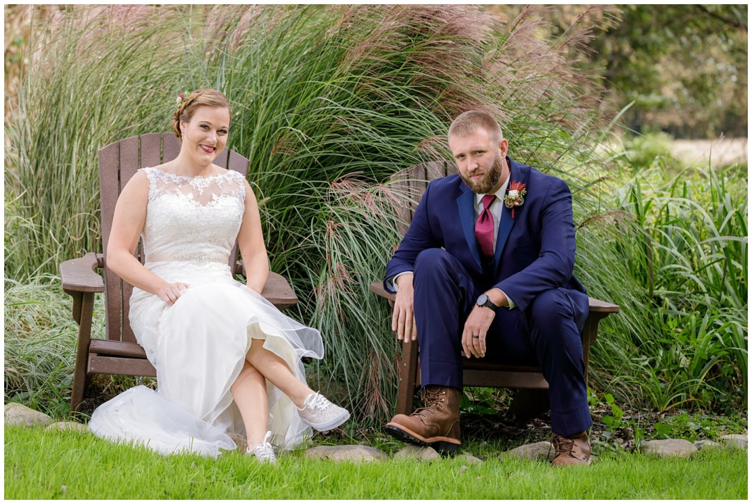 bride and groom non traditional shoes