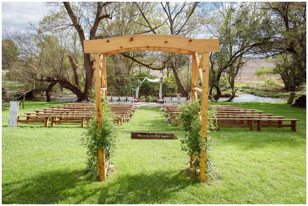 arch for bridal entrance to ceremony