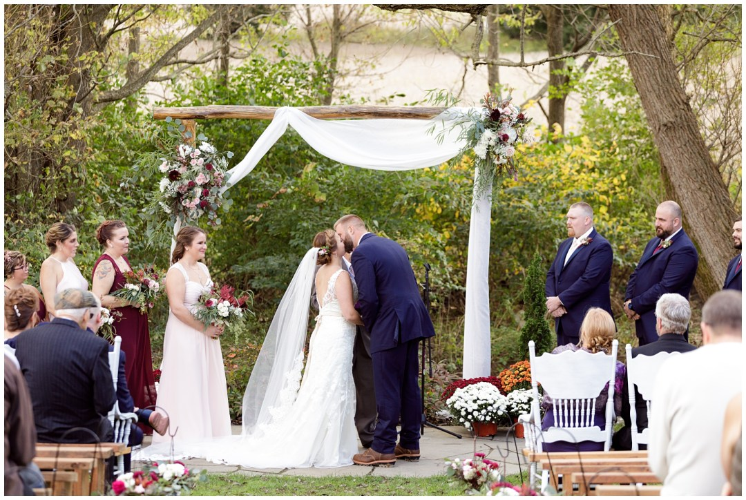 outdoor ceremony near creek in pennsylvania