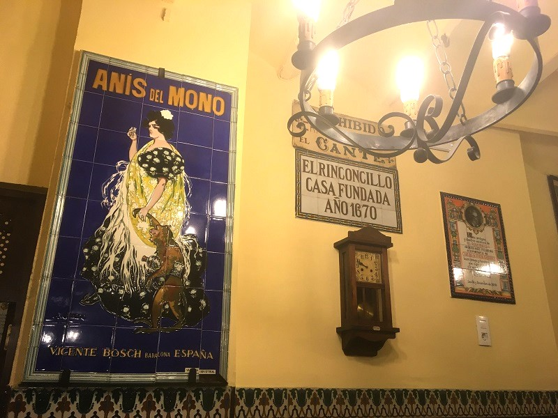 El Rinconcillo, the oldest bar in Seville, Spain