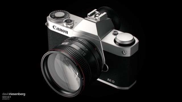 Canon mirrorless camera concept by David Riesenberg