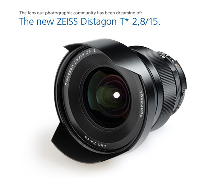 Zeiss Distagon T* 2,8/15 super wide angle lens